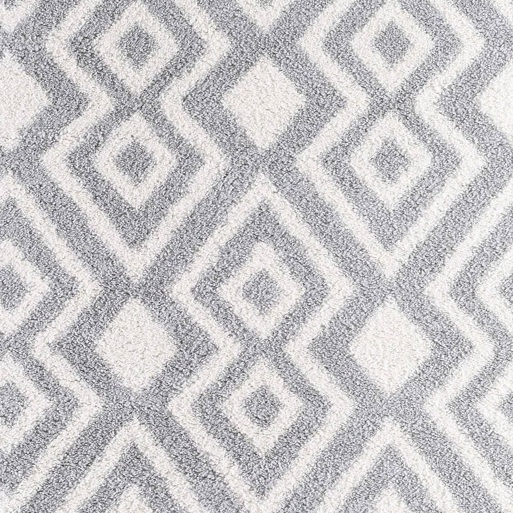 "Central Oriental Prince Light Zelina 8657.209 6'7"" x 9'2"" Cream and Grey Area Rug, , large"