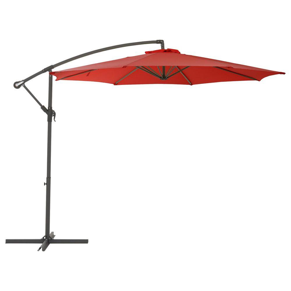 CorLiving 9.5' UV Resistant Patio Umbrella in Crimson Red, , large
