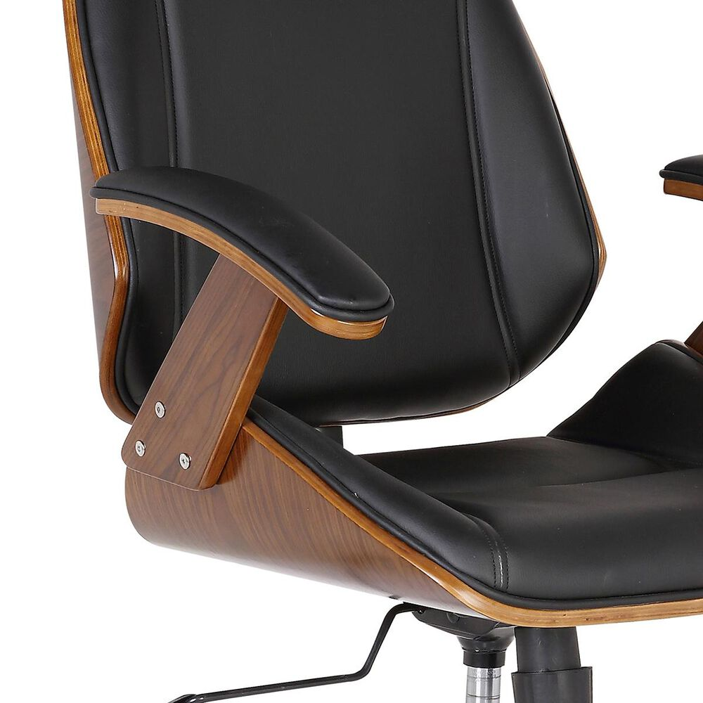 Blue River Century Office Chair in Black. Chrome, and Walnut, , large