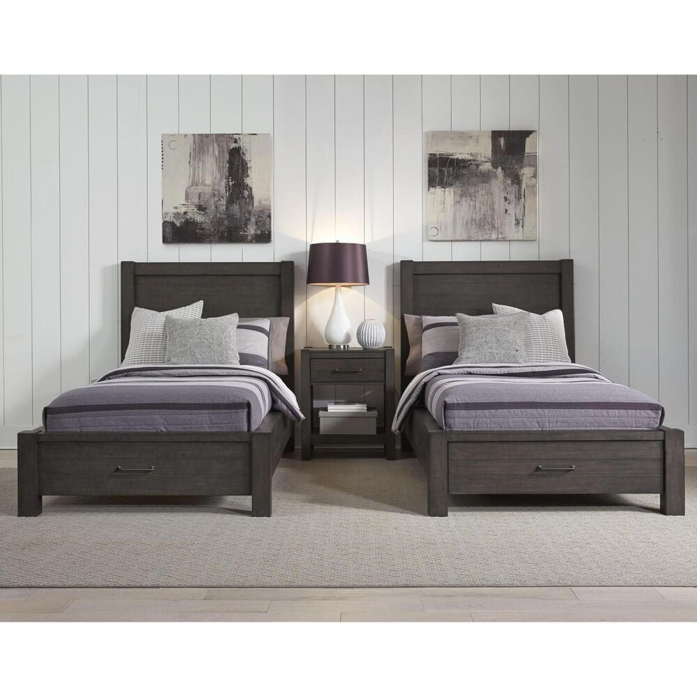Riva Ridge Mill Creek 4 Piece Full Storage Bed Set in Carob, , large