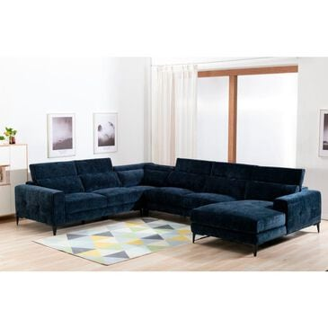 Lifestyle Shanghai 4-Piece Sectional in Midnight Velvet, , large
