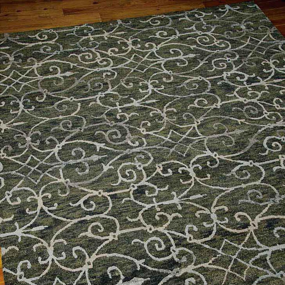 "Nourison Tahoe Modern MTA05 8'6"" x 11'6"" Charcoal Area Rug, , large"