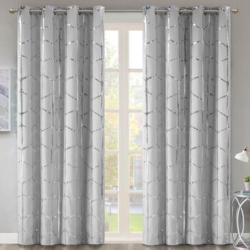 "Hampton Park Raina 50"" x 84"" Top Curtain Panel in Grey and Silver, , large"