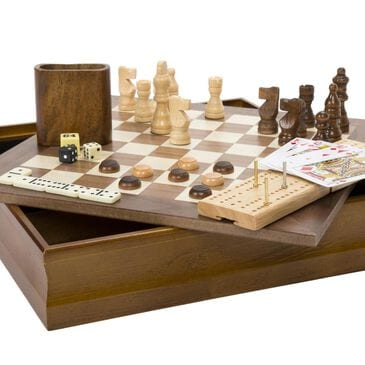 Timberlake Hey! Play! 7-in-1 Classic Combo Game - Chess-Checkers-Cribbage and More, , large