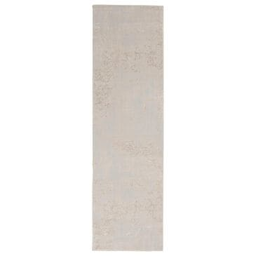 "Nourison Silky Textures SLY01 2'2"" x 7'6"" Ivory and Grey Runner, , large"