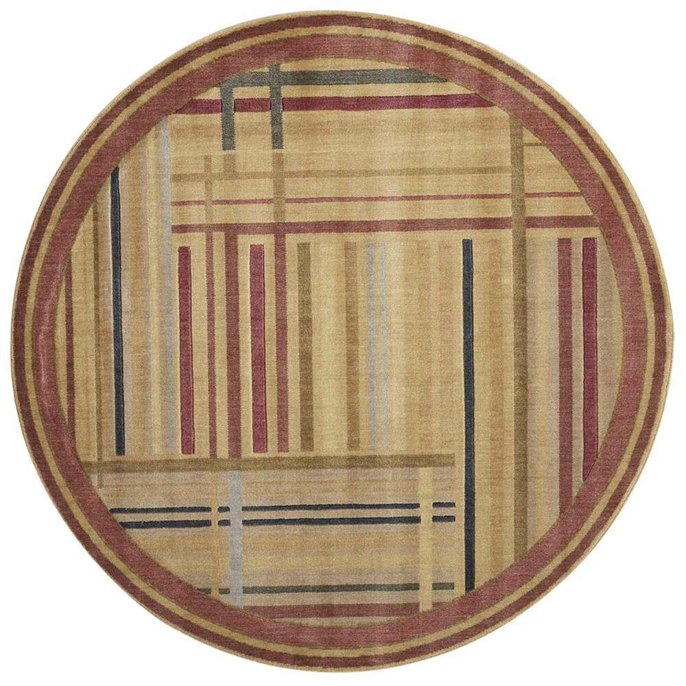 "Nourison Somerset ST17 5'6"" Round Multicolor Area Rug, , large"