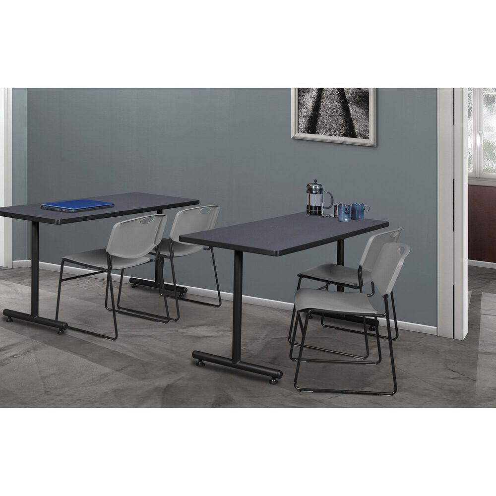 "Regency Global Sourcing Kobe 48"" x 24"" Training Table in Grey, , large"