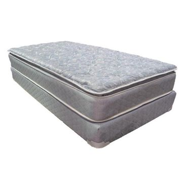 Omaha Bedding Slumberon Maxima Pillow Top Plush Queen Mattress with High Profile Box Spring, , large