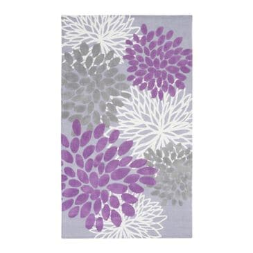 Little Dreamer Abigail ABI-9055 2' x 3' Purple and Lavender Area Rug, , large