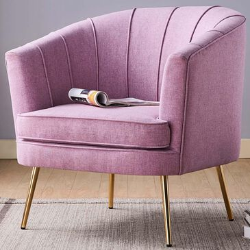 Furniture of America Morin Accent Chair in Lilac, , large