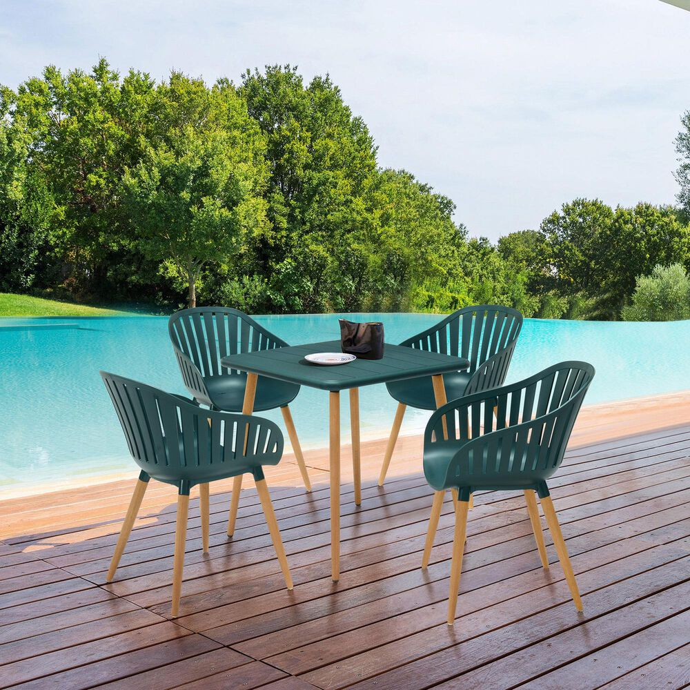 Blue River Nassau Patio Dining Table in Green Eucalyptus, , large