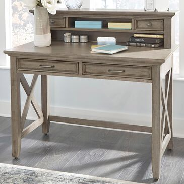 Home Styles Mountain Lodge Desk with Hutch in Gray, , large