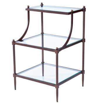 Butler Hors D'oeuvres Tiered Side Table in Iron and Glass, , large