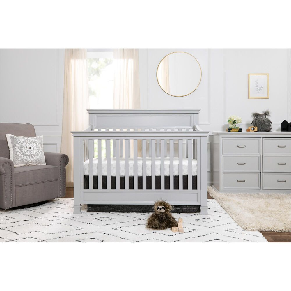 New Haus Foothill 4-In-1 Convertible Crib in Cloud Grey, , large