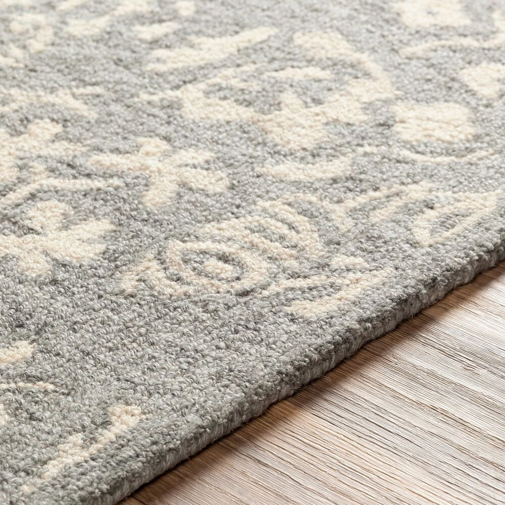 """Surya Granada GND-2312 2'6"""" x 8' Medium Gray, Beige and Charcoal Scatter Rug, , large"""