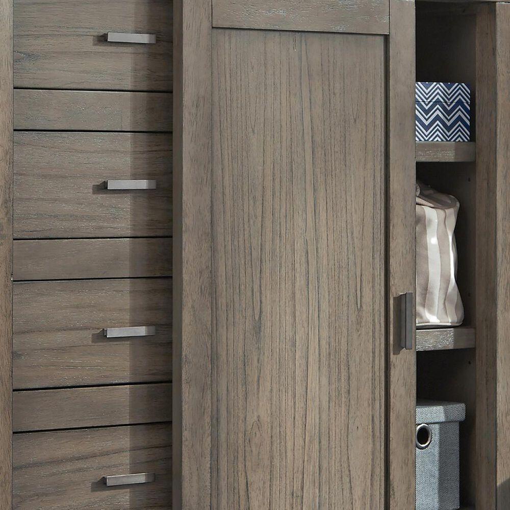 Riva Ridge Modern Loft Sliding Door Chest in Graystone, , large
