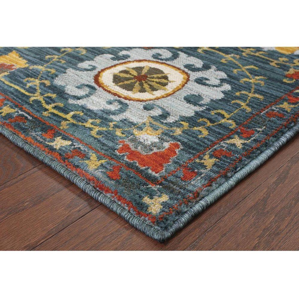 """Oriental Weavers Sedona 6408B 9'10"""" x 12'10"""" Blue Area Rug, , large"""