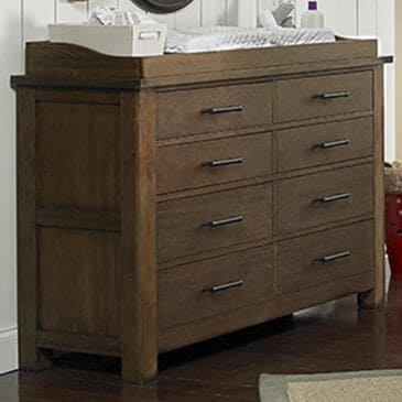 Bivona & Company Lucca 8 Drawer Double Dresser in Weathered Brown, , large