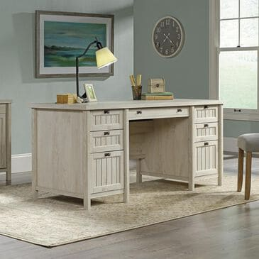 Sauder Costa Executive Desk in Chalked Chestnut, , large