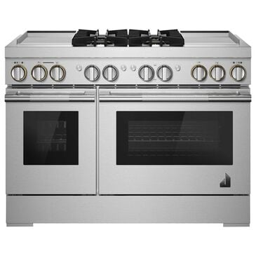 """Jenn-Air Rise 48"""" Dual Fuel Professional Range in Stainless Steel, , large"""