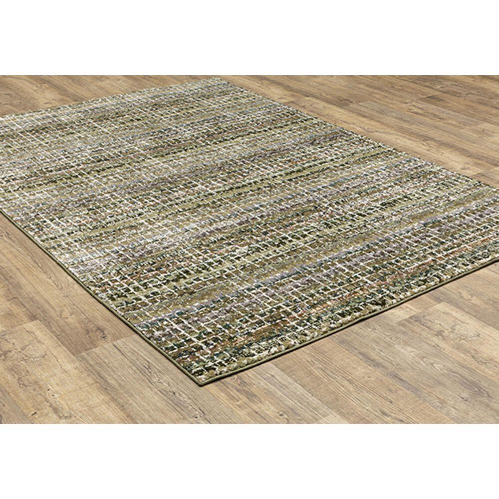 """Oriental Weavers Atlas Stripe 747A0 7'10"""" x 10'10"""" Green Area Rug, , large"""