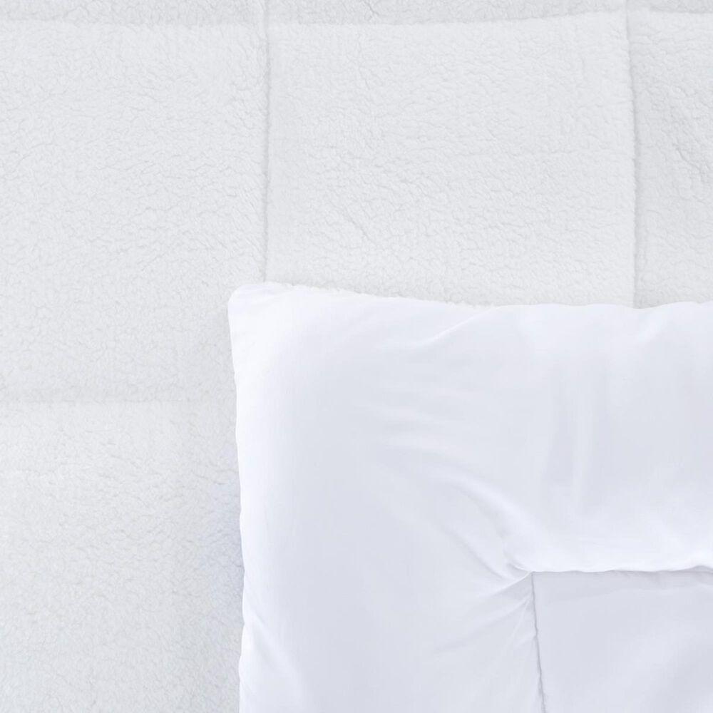 Timberlake King Oversized Reversible Down Alternative Comforter with Sherpa, , large