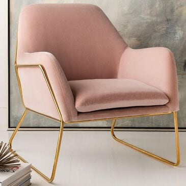Safavieh Misty Accent Chair in Blush Velvet, , large