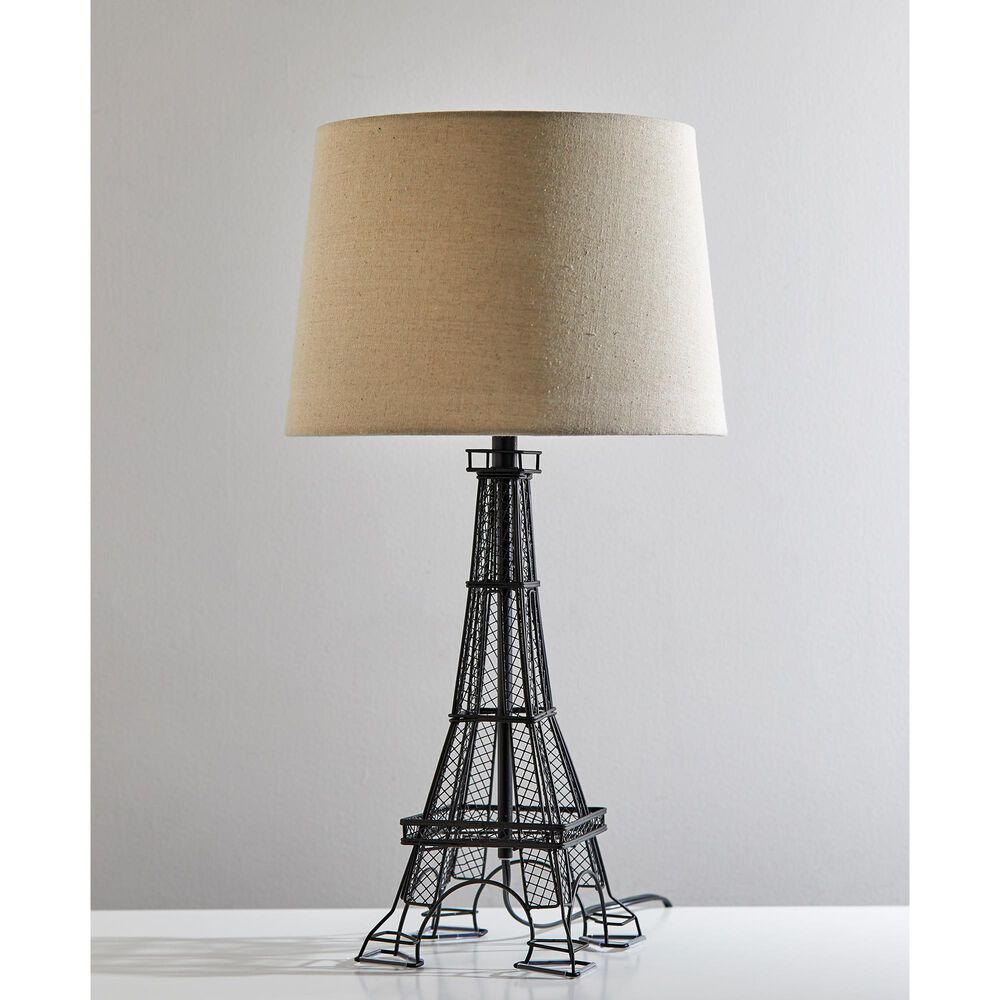 Adesso Eiffel Tower Table Lamp in Black, , large