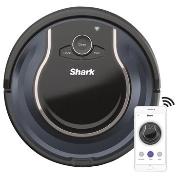 Shark ION ROBOT App Controlled Robot Vacuum in Black and Navy Blue, , large