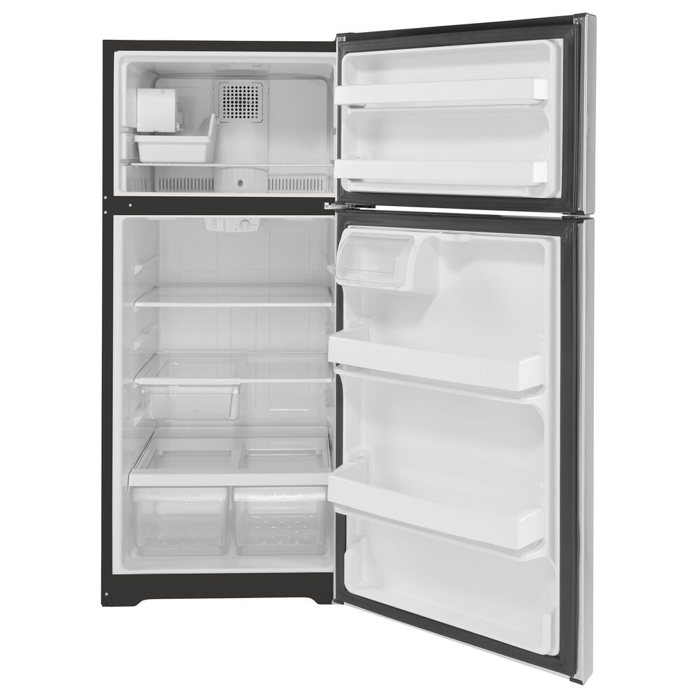 GE Appliances 16.6 Cu. Ft. Top Freezer Refrigerator Energy Star in Stainless Steel, , large