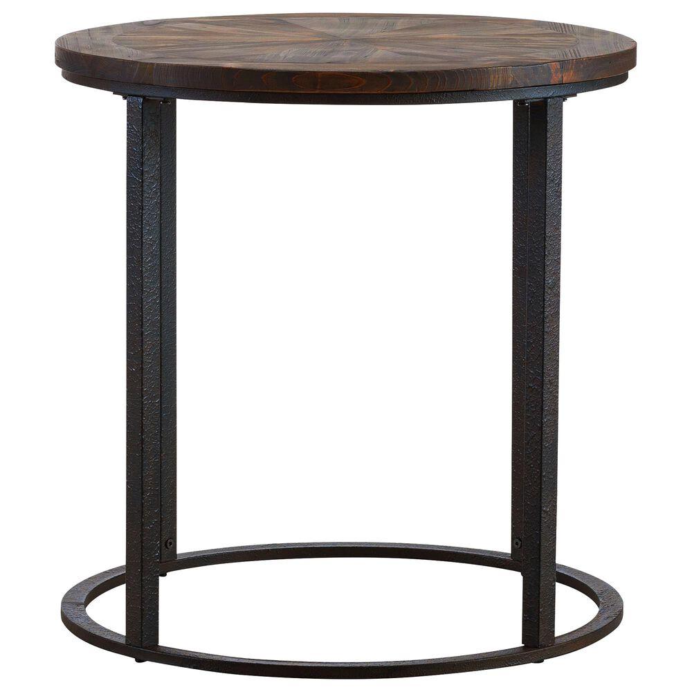 Southern Enterprises Landsmill End Table in Natural and Black, , large