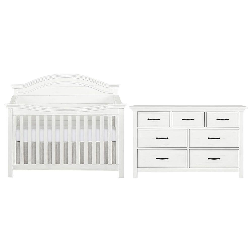 Evolur Belmar 2 Piece Nursery Set in Weathered White, , large