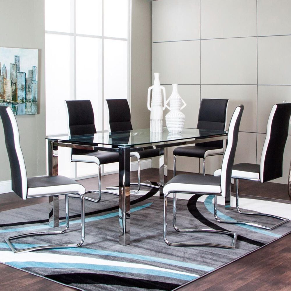 Penny Lane Skyline Dining Table in Chrome - Table Only, , large