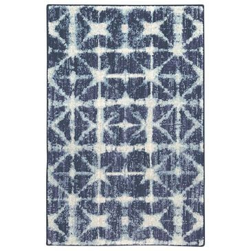 Scott Living Expressions Triangle 91669-50102 2' x 3' Indigo Scatter Rug, , large