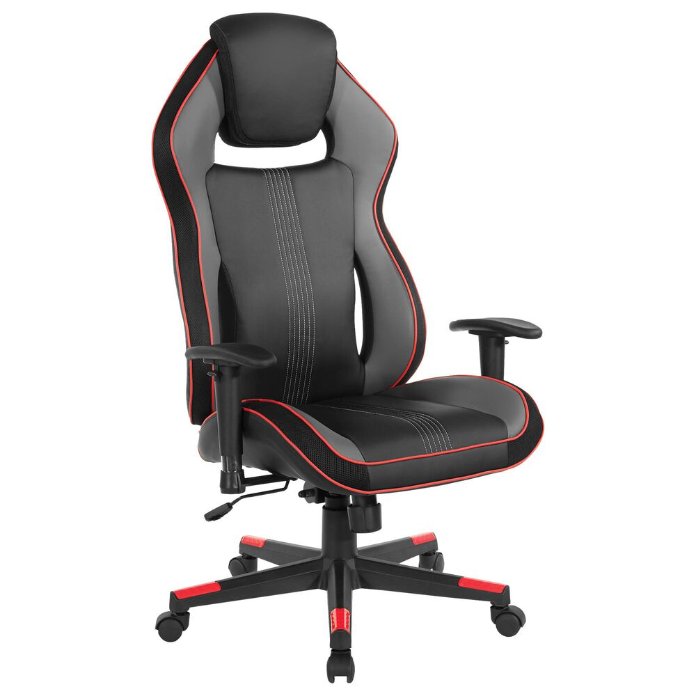 OSP Home BOA II Gaming Chair in Black and Red, , large