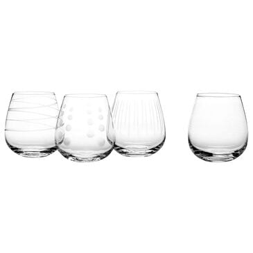 Lifetime Brands Mikasa Cheers 14 Oz Stemless Wine Glasses in Clear - Set of 4, , large