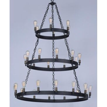 Maxim Lighting Noble 30-Light Chandelier in Black and Natural Aged Brass, , large