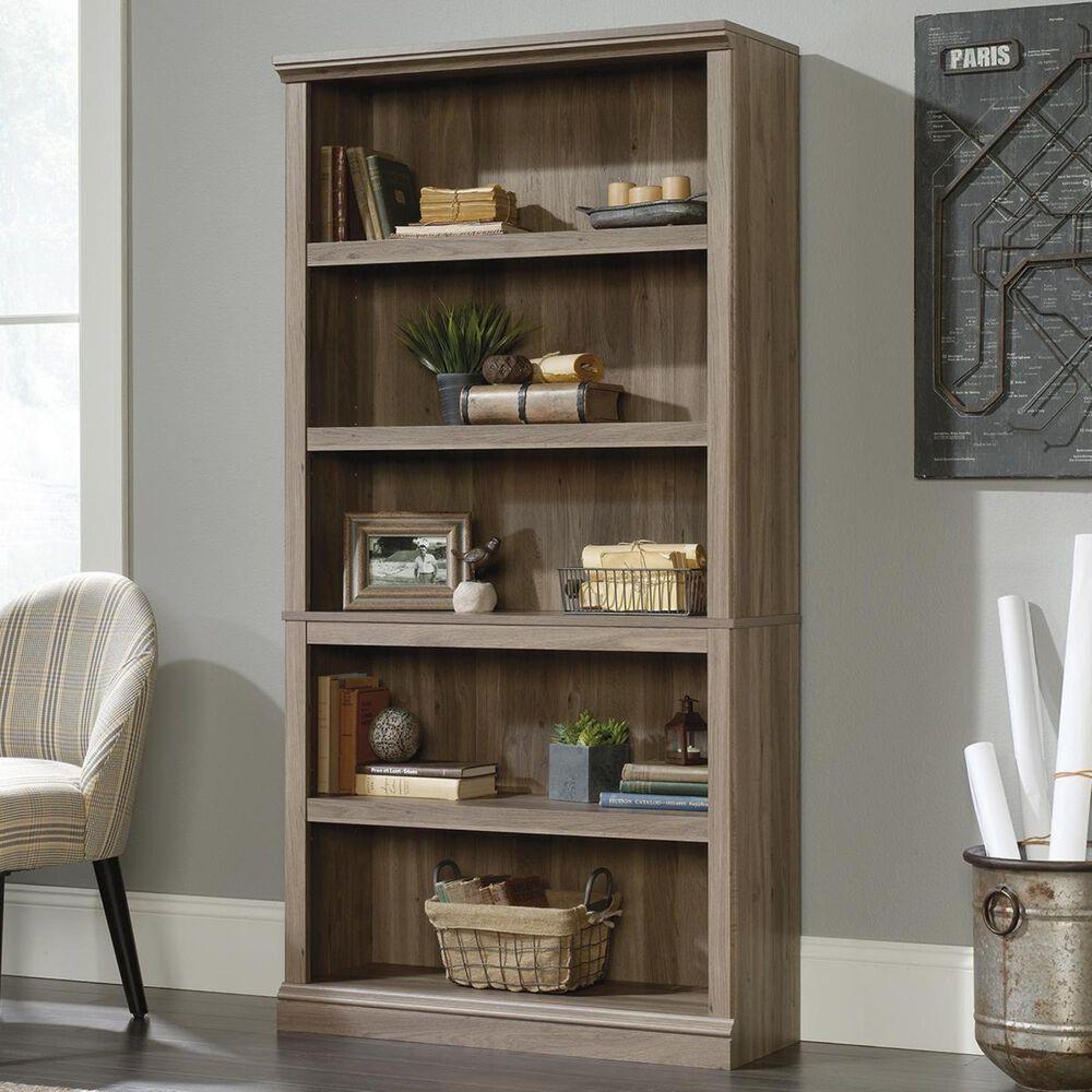 Sauder Select 5-Shelf Bookcase in Salt Oak, , large
