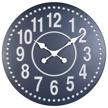 """Infinity Instruments 20"""" Round Wall Clock in Gunmetal Grey and White, , large"""