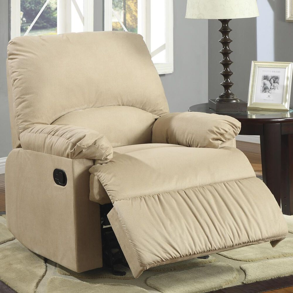 Pacific Landing Manual Glider Recliner in Brown, , large