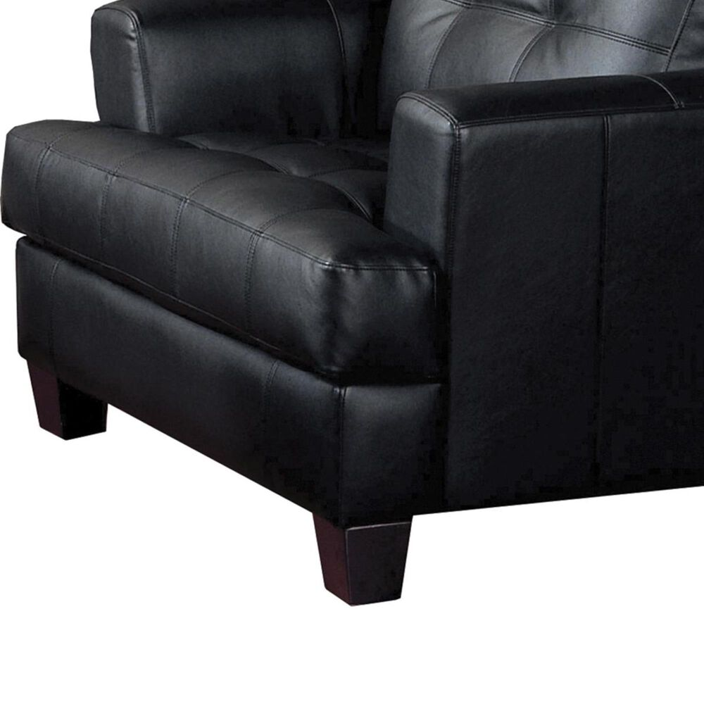 Pacific Landing Black Bonded Leather Arm Chair, , large