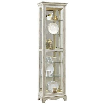 Chapel Hill Single Side Entry Curio in Weathered White, , large