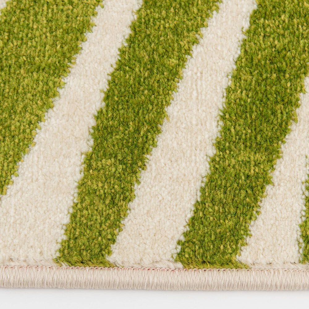 """Central Oriental Terrace Tropic Tropical Oasis 7'10"""" x 9'10"""" Snow and Leaf Area Rug, , large"""