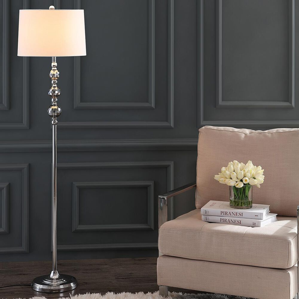 Safavieh Addie Floor Lamp in Grey/Chrome, , large