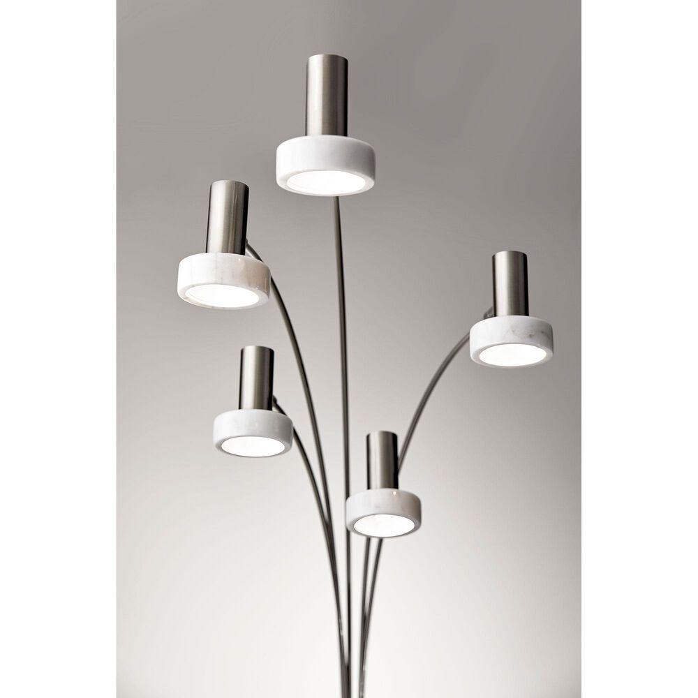 Adesso Miranda LED Arc Lamp in Brushed Steel, , large