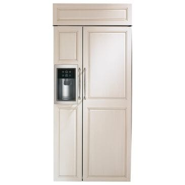 """GE Appliances 36"""" Smart Built-In Side by Side Refrigerator with Dispenser Panel Ready , , large"""