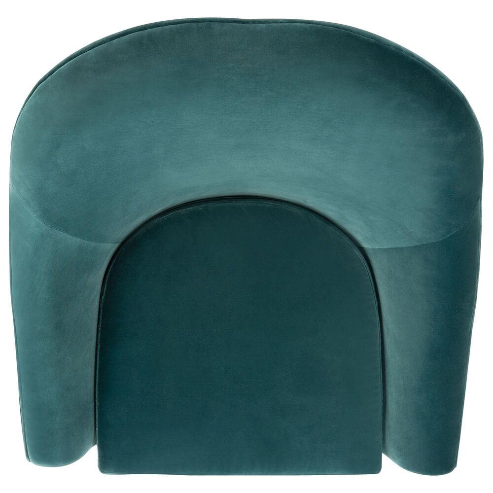 Safavieh Jayana Accent Chair in Dark Teal Velvet, , large