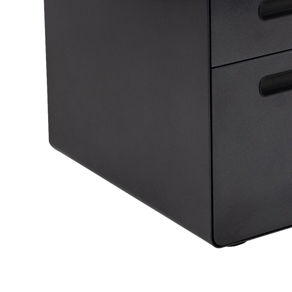 Flash Furniture 3-Drawer Mobile File in Black, , large