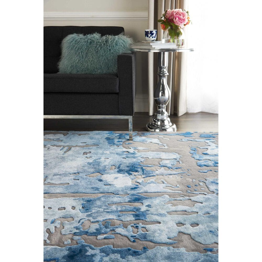 "Nourison Prismatic PRS10 9'9"" x 13'9"" Blue and Grey Area Rug, , large"