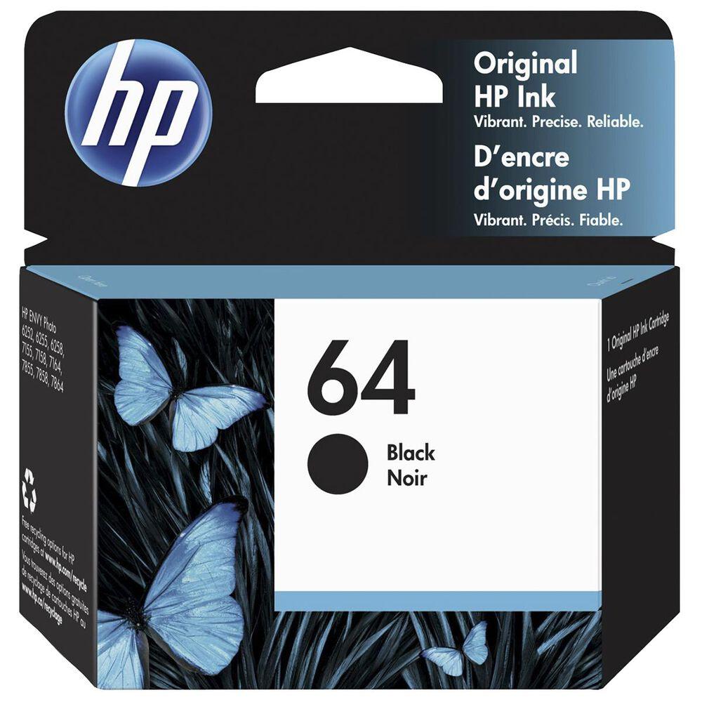 HP 64 Black Ink Cartridge, , large